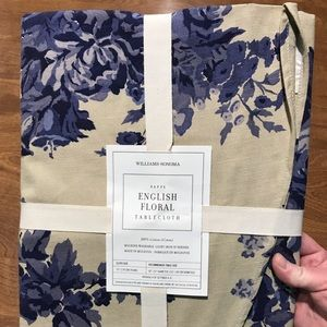 Williams Sonoma Nappe English Floral Tablecloth